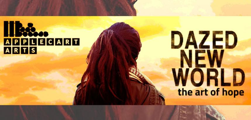 A figure long hair, their back to the camera, looks straight ahead at a yellow sky. The title 'Dazed New