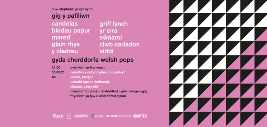 Poster for Gig y Pafiliwn