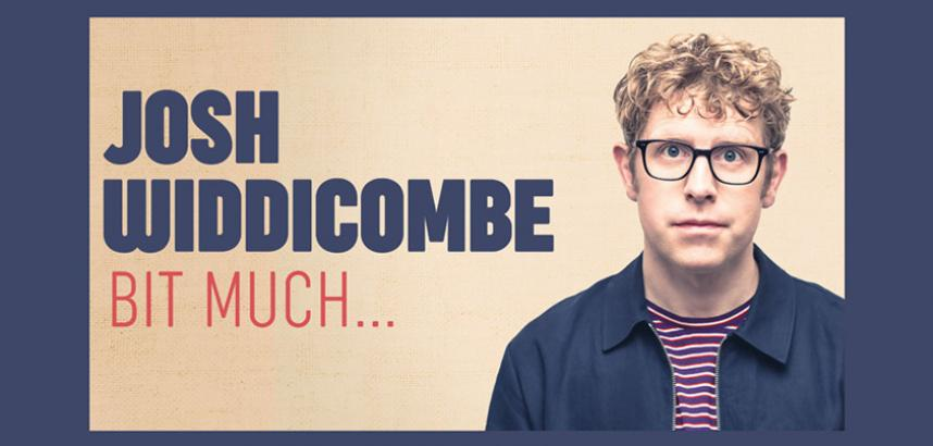 A promotional image for the show which features the title, and a head-and-shoulders image of Josh, who has curly blond hair and wears glasses.