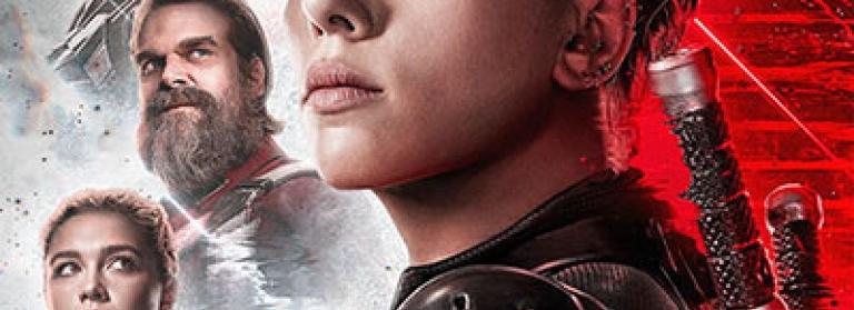 Black Widow poster with Scarlett Johansson