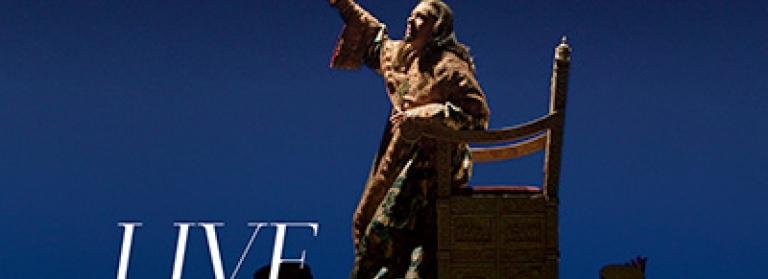 René Pape as Boris Godunov. Text reads 'Live on Screens in Cinemas'