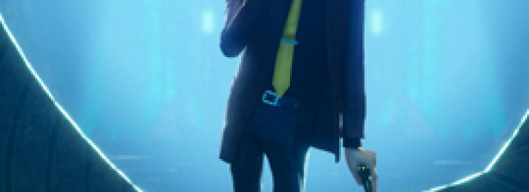 Silhouette of Lupin the Third from the animated film