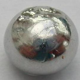 A silver coloured sphere