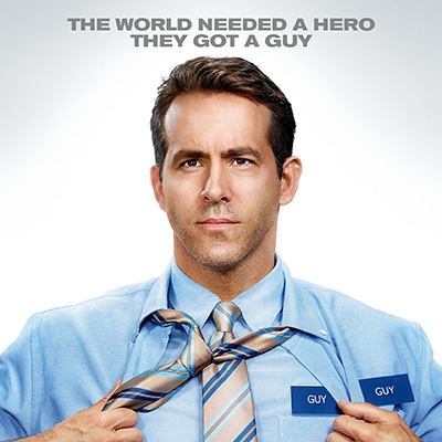 Poster for Free Guy - Text reads 'The world needed a hero. They got a guy.'