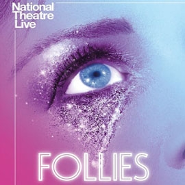 close up of eye on Follies poster