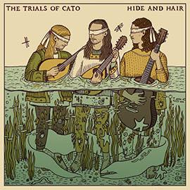 Trial of Cato's green and yellow hued illustrated album cover