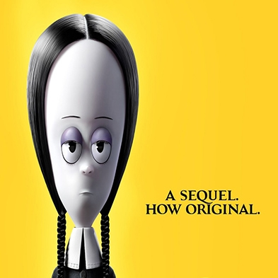Addams Family character with text reading 'A Sequel. How original.'