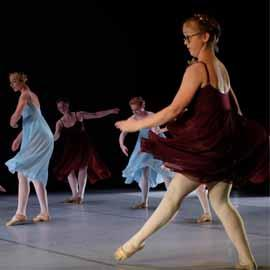 Young ballet dancers on stage.