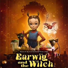 Poster for animated Studio Ghibli film Earwig and the Witch