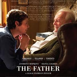Olivia Colman and Anthony Hopkins in the movie poster for The Father