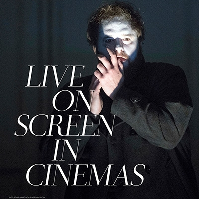 The NY Met Opera's Hamlet. Text reads 'Live on Screen in Cinemas'