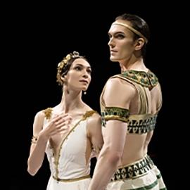 Dancers from Bolshoi Ballet in The Pharaoh's Daughter