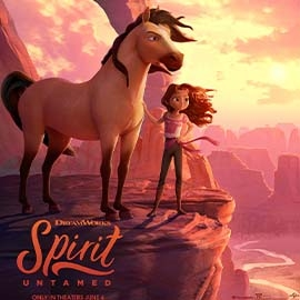 Animated girl with horse