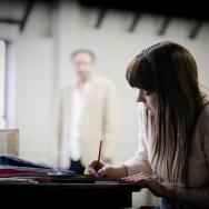 Educating Rita - girl with a notepad