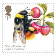 Richard Lewington, Royal Mail Bees: Bilberry Bumblebee