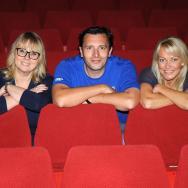 Mack, Jack and Terri in the auditorium