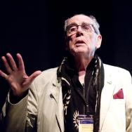 David Hurn on the stage