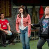 Daniel Hawksford, Katie Elin-Salt & Lauren Roberts. Source: Robert Workman / National Theatre Wales