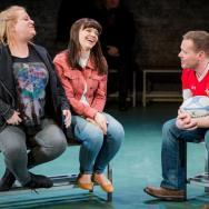 Lauren Roberts, Katie Elin-Salt & Rhys ap William. Source: Robert Workman / National Theatre Wales