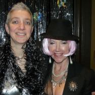 Helen Sandler (left) and Jane Hoy (aka Vesta Clitoria)