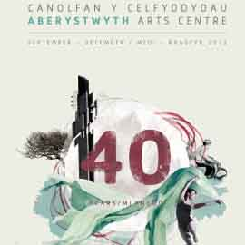 The cover of Aberystwyth Arts Centre's 40th anniversary year programme, from 2012.