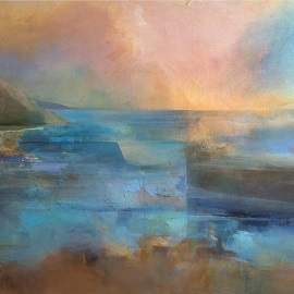 Photo of a landscape painting by Karen Pearce